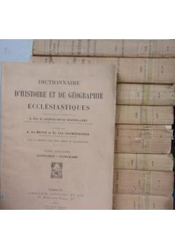 Dictionnaire D`Histore et de Geographe Ecclesiastiques, Tom I-VII, IX, XII