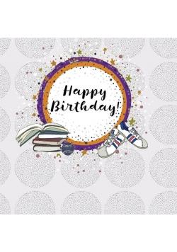 Karnet kwadrat CL0218 Urodziny książki