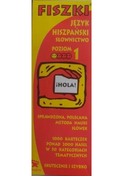 Fiszki język hiszpański słownictwo poziom 1