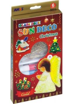 Farby witrażowe AMOS SD10P06-CH 6 kolorów+ witraże Christmas