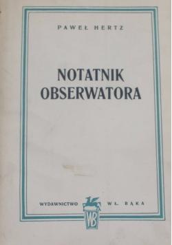 Notatnik obserwatora, 1948 r.