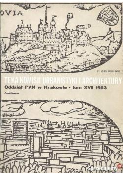 Teka komisji urbanistyki i architektury, tom XVII