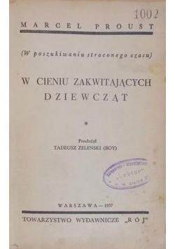W cieniu zakwitających dziewcząt ,1937r.