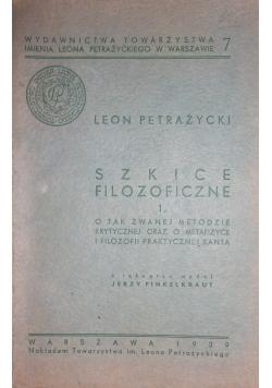 Szkice filozoficzne, tom I1939 r.