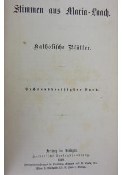 Stimmen aus Maria Laach, 1889r.