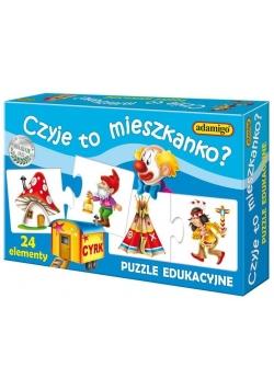 Puzzle edukacyjne - Czyje to mieszkanko?