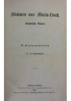 Stimmen aus Maria- Laach, 1881 r.