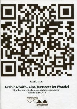 Grabinschrift - eine Textsorte im Wandel