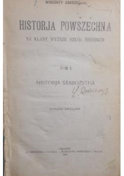 Historia starożytna, Tom I, 1923 r.,