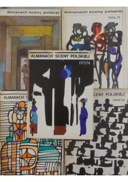 Almanach sceny Polskiej-zestaw 5 książek 1969-1973