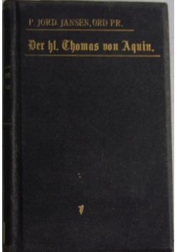 Der hl. Thomas von aquin, 1898 r.
