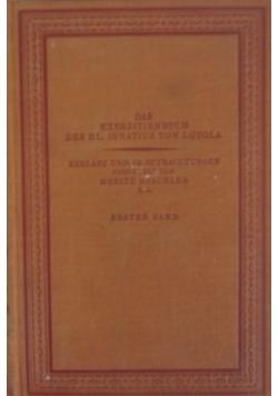 Das Exerzitienbuch des hl. Ignatius von Loyola, 1925 r.