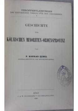 Gechichte der kolnischen minoriten-ordensprovinz, 1906r.