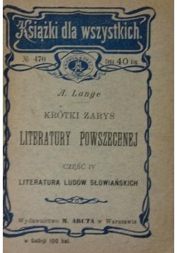 Krótki zarys literatury powszechnej