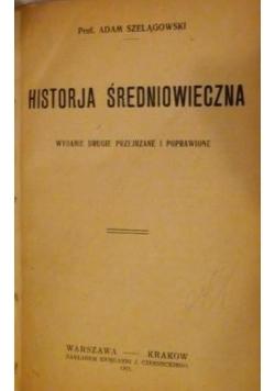 Historja Średniowieczna, 1921r.