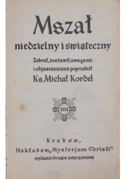 Mszał niedzielny i świąteczny, 1936 r