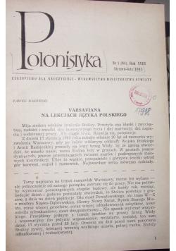 Polonistyka, nr 1-4 1965 r.