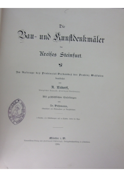 Die Bau - und Kunstdenkmäler des Kreises Steinfurt., 1904 r.