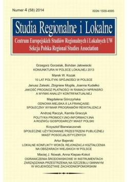 Studia Regionalne i Lokalne nr 4 2014
