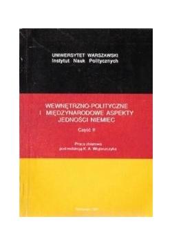 Wewnętrzno-polityczne i międzynarodowe aspekty jedności NIemiec