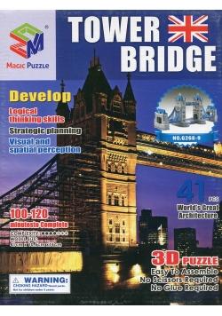 Puzzle 3D Budowle Empire State Tower Bridge 41 elementów