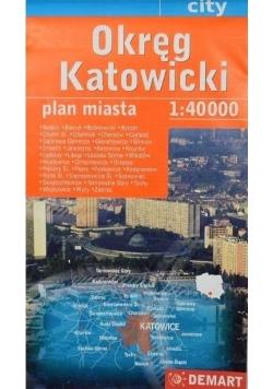 Okręg Katowicki 1: 40 000 DEMART plan miasta