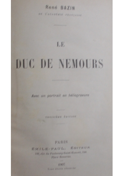 Le duc de nemours , 1907 r.