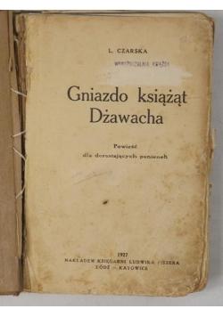 Gniazdo książąt Dżawacha, 1927 r.