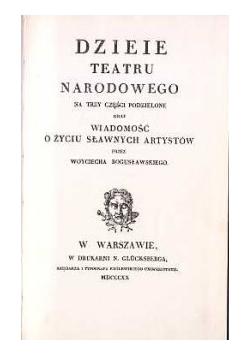 Dzieje Teatru Narodowego ,1820r.