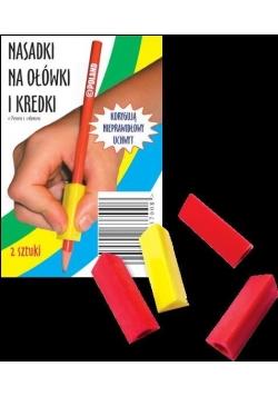 Nasadki trójkątne podłużne na ołówki i kredki 2szt