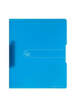 Segregator A4 PP 2R 1,6cm niebieski transparentny