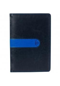 Kalendarz 2019 A5 Elegance grafit-niebieski ASTRA