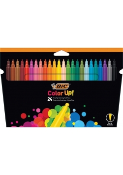 Flamastry Color UP 24 kolory BIC