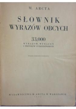 Słownik wyrazów obcych, 1936r.