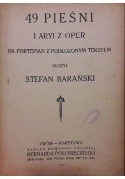 49 pieśni i Aryi z oper na fortepian z podłożonym tekstem