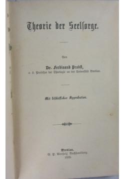 Theorie der Seelsorge, 1885 r.