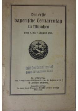 Der erste bayerische Tertiarentag zu München, 1912 r.