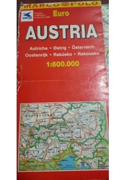 Austria mapa samochodowa 1:600000