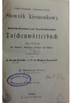 Polsko-niemiecki i niemiecko-polski słownik kieszonkowy1890r.