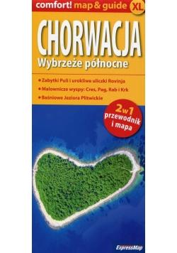 Chorwacja Wybrzeże północne XL 2w1 przewodnik i mapa