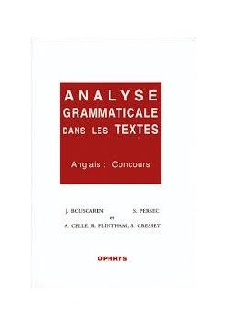 Analyse Grammaticale dans les Textes