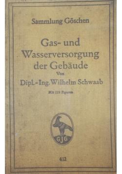 Gas - und Wasserversorgung der Gebaude , 1923 r.