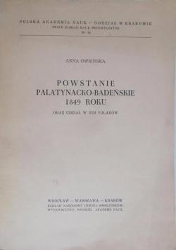 Powstanie Palatynacko-Badeńskie 1849 roku