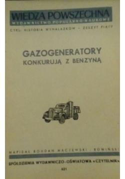 Gazogeneratory konkurują z benzyną, 1950 r.
