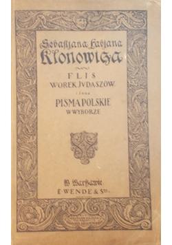 Flis,WorekJudaszów i inne pisma polskie w wyborze,1920r.