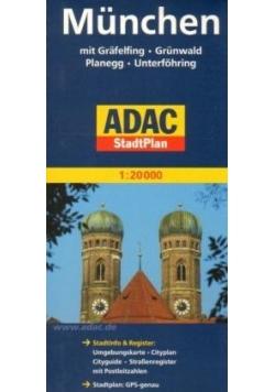 StadtPlan ADAC. Monachium 1:20 000 plan miasta