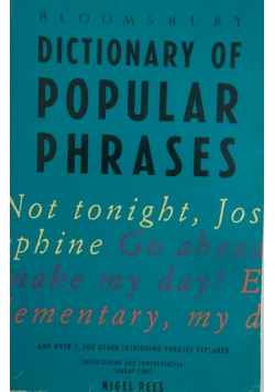 Dictionary of popular phrases