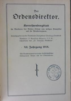 Der OrdenDirektor korrespondenzblatt für Direktoren des Dritten Ordens vom heiligen Franzistus und fur Briesterziaren, 1918 r.