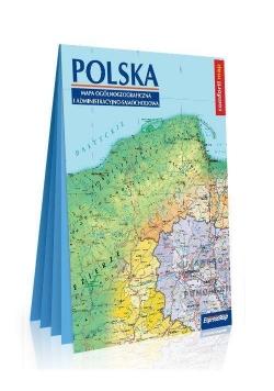 Polska.Mapa ogólnogeogr. i adm.-sam. 1:100 000 XXL
