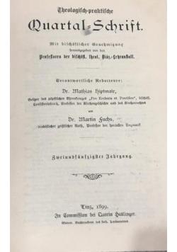 Theologisch-praktische Quartal-Schrift, 1899 r.